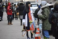 Fashionweek new york city february 14 2015 Royalty Free Stock Photography