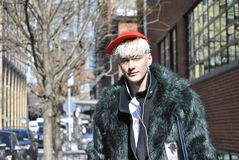 Fashionweek new york city february  2015 Stock Image