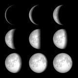 Fasi della luna Fotografia Stock