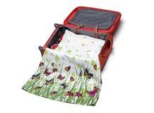 Fasi delle valigie dell'imballaggio Fotografie Stock