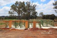 Fasi iniziali di costruzione della casa Immagini Stock Libere da Diritti