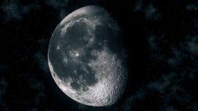 Fasi lunari realistiche durante il ciclo lunare gibbous royalty illustrazione gratis