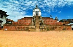 Fasidega hinduisk tempel, Bhaktapur, Nepal Arkivfoton