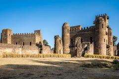 Fasil Ghebbi is de overblijfselen van een vesting-stad binnen Gondar, Ethiopi? stock afbeeldingen