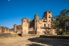 Fasil Ghebbi es los restos de una fortaleza-ciudad dentro de Gondar, Etiopía foto de archivo libre de regalías
