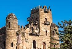 Fasil Ghebbi es los restos de una fortaleza-ciudad dentro de Gondar, Etiopía imagen de archivo