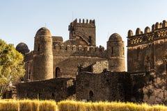 Fasil Ghebbi jest resztkami miasto wśród Gondar, Etiopia obrazy royalty free
