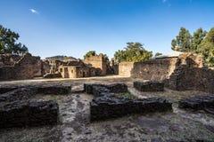 Fasil Ghebbi is the remains of a fortress-city within Gondar, Ethiopia. Fasil Ghebbi Royal Enclosure is the remains of a fortress-city within Gondar, Ethiopia stock image