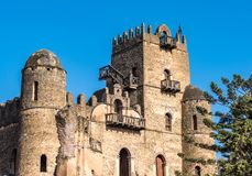 Fasil Ghebbi is the remains of a fortress-city within Gondar, Ethiopia stock photography