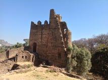 Fasil slott Gondar Etiopien Arkivfoton