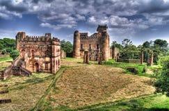 Fasilidas palace in Fasil Ghebbi site Gonder Stock Images
