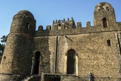 Fasilides slott i Gondar, Etiopien Royaltyfria Foton