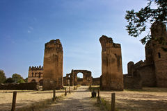 Fasilideskasteel, Gondar stock afbeelding