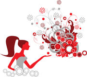 Fasion girl. Fashion girl. Illustration can be used for different purposes Stock Photo