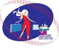 Fasion girl. Fashion girl. Illustration can be used for different purposes Stock Images