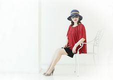 A fasion girl Royalty Free Stock Image