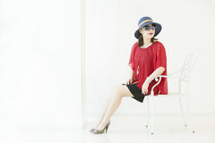 A fasion girl Royalty Free Stock Photo