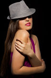 Fasion portrait of young woman Royalty Free Stock Photo