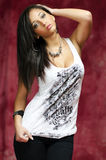 Fasion Pose. Beautiful Multi Racial Woman Posing Royalty Free Stock Image