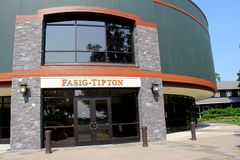 Fasis-Tipton Building, selling thoroughbred horse,the oldest auction company of it's kind in North America,Saratoga,2015. Historic Fasig- Tipton Company, where royalty free stock image