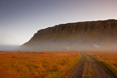 faskrudsfjordur iceland fotografering för bildbyråer