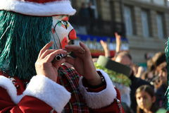 Fasnacht Festival, Basel. Fasnacht Festival in Basel, People play flute with Waggis Mask royalty free stock photography