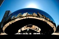 Fasola, chmury brama, Chicago Obrazy Stock