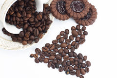 fasola kształt kawowy kierowy Fotografia Stock