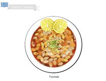 Fasolada White Bean Soup, The National Dish of Greece Royalty Free Stock Photography