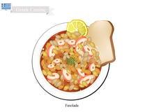 Fasolada White Bean Soup, The National Dish of Greece Stock Photos