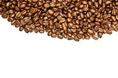 Fasole kawa na białym tle piją pocztówkowego projekta pojęcie Zdjęcia Royalty Free