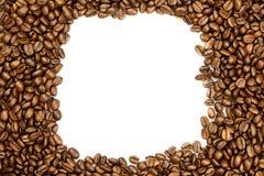 Fasole odizolowywać na białego tła śniadaniowym napoju kawa Obraz Royalty Free