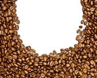Fasole odizolowywać na białego tła śniadaniowym napoju kawa Fotografia Royalty Free