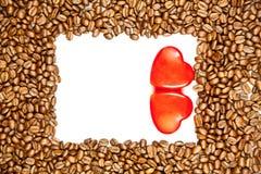 Fasole odizolowywać na białego tła projekta kierowym pocztówkowym pojęciu kawa Zdjęcia Royalty Free