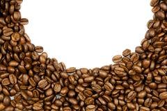 Fasole odizolowywać na białym tle kawa piją pocztówkowego projekta pojęcie Zdjęcie Stock