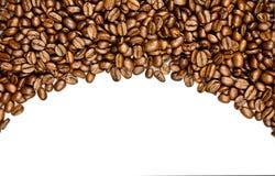 Fasole odizolowywać na białym tle kawa piją pocztówkowego projekta pojęcie Fotografia Stock