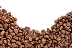 Fasole odizolowywać na białym tle kawa piją pocztówkowego projekta pojęcie Obraz Royalty Free