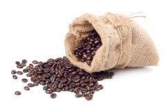fasoli brezentowy kawy worek Zdjęcia Royalty Free