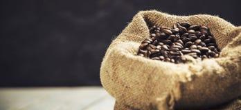 fasoli burlap kawy worek Zdjęcie Stock