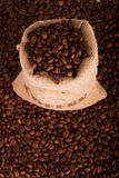 fasoli burlap kawy worek Obraz Stock