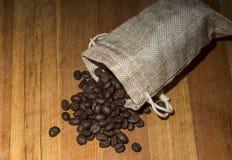 fasoli burlap kawy worek Obrazy Royalty Free