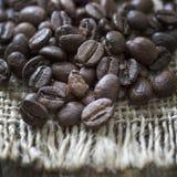 fasoli burlap kawy worek Obrazy Stock