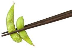 fasoli chopsticks soje Zdjęcia Royalty Free