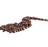 fasoli cofee droga Zdjęcie Stock