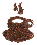 fasoli coffe filiżanka zrobił Obrazy Stock