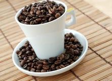 fasoli coffe filiżanka obrazy royalty free