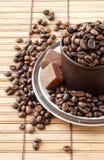 fasoli coffe filiżanka zdjęcie royalty free