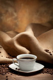 fasoli czarny kawy kawa espresso Zdjęcie Stock