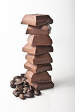 fasoli czekolady kawa Fotografia Royalty Free