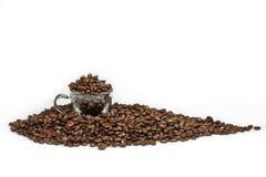 fasoli filiżanki kawa espresso Zdjęcie Royalty Free